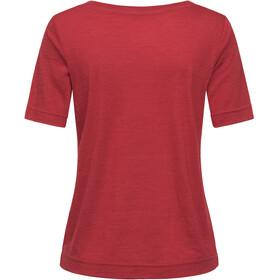 super.natural Essential Scoop Camiseta Mujer, red dhalia melange